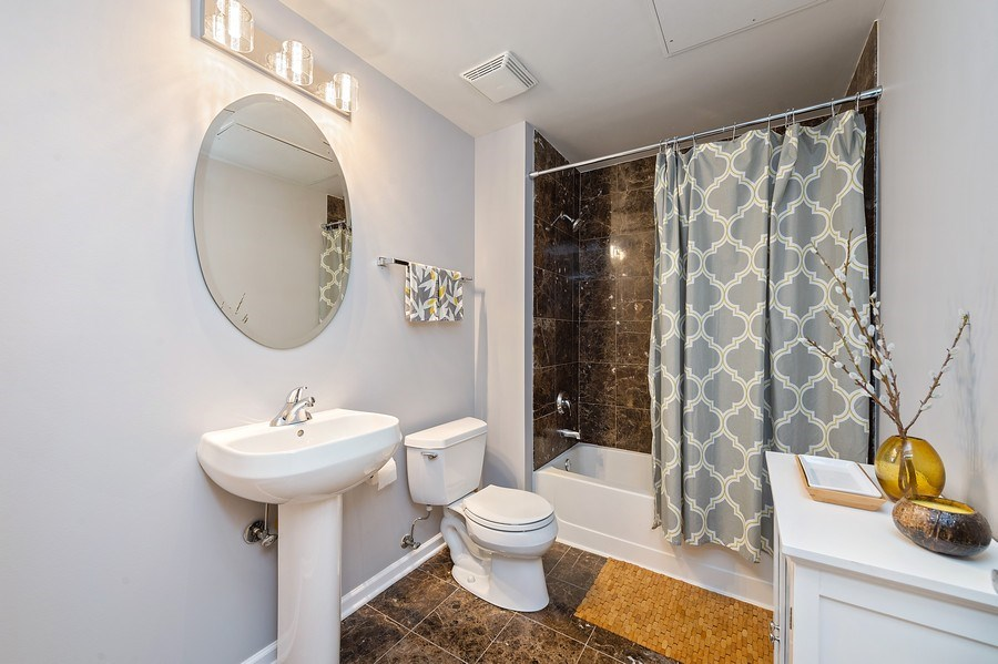 Real Estate Photography - 3631 N Halsted Street #512, Chicago, IL, 60613 - 2nd Bathroom