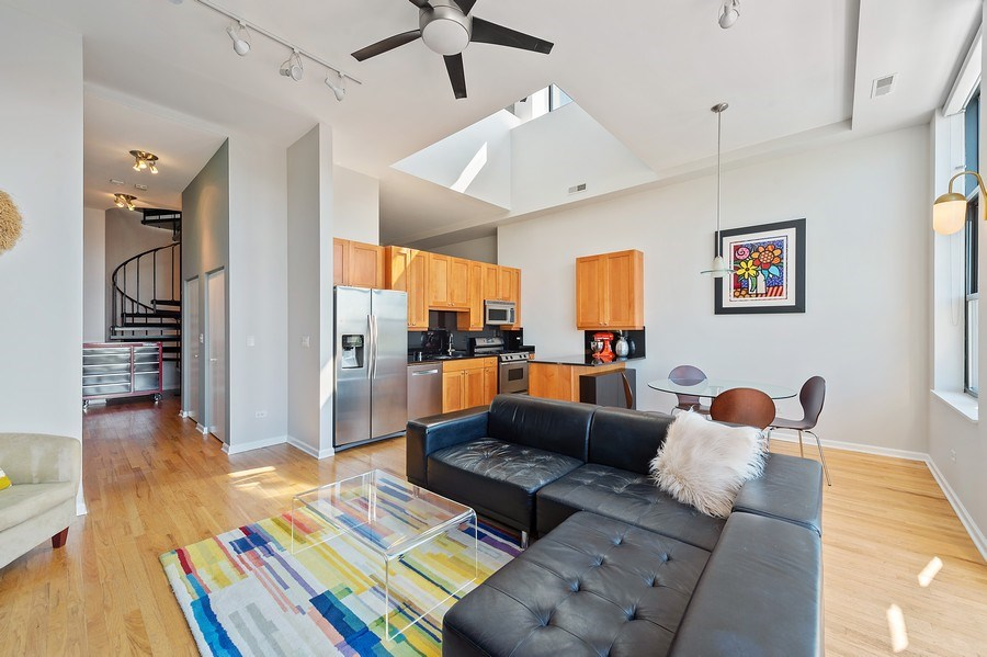 Real Estate Photography - 3631 N Halsted Street #512, Chicago, IL, 60613 - Living Room / Dining Room