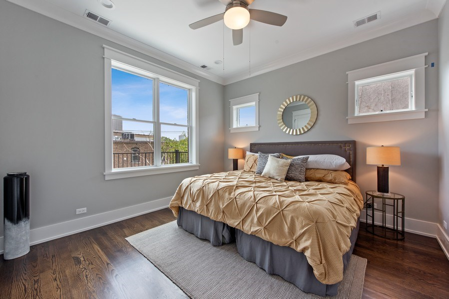 Real Estate Photography - 3813 N Kenmore, Unit 3N, Chicago, IL, 60618 - Master Bedroom