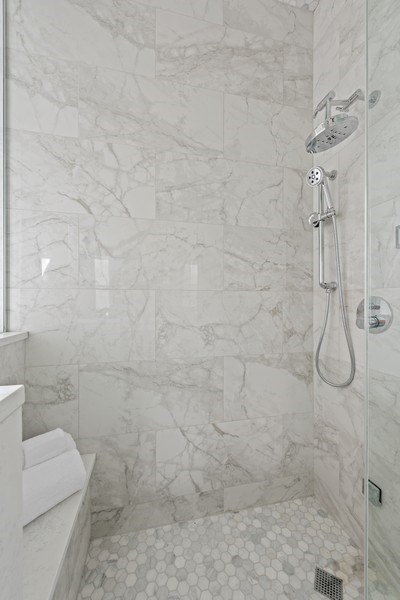 Real Estate Photography - 3813 N Kenmore, Unit 3N, Chicago, IL, 60618 - Master Bathroom