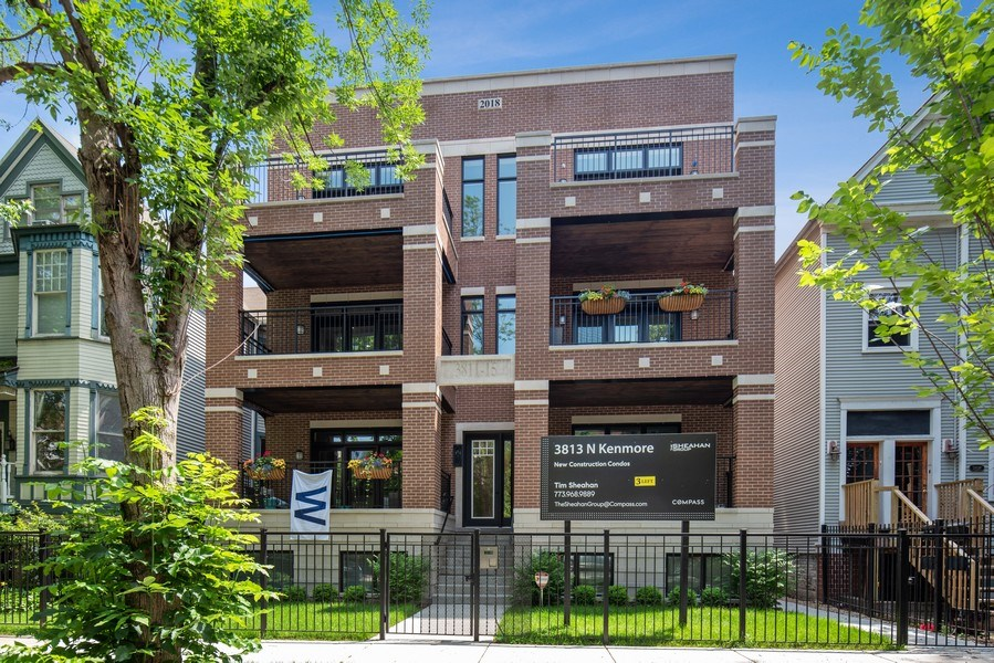 Real Estate Photography - 3813 N Kenmore, Unit 3N, Chicago, IL, 60618 - Front View