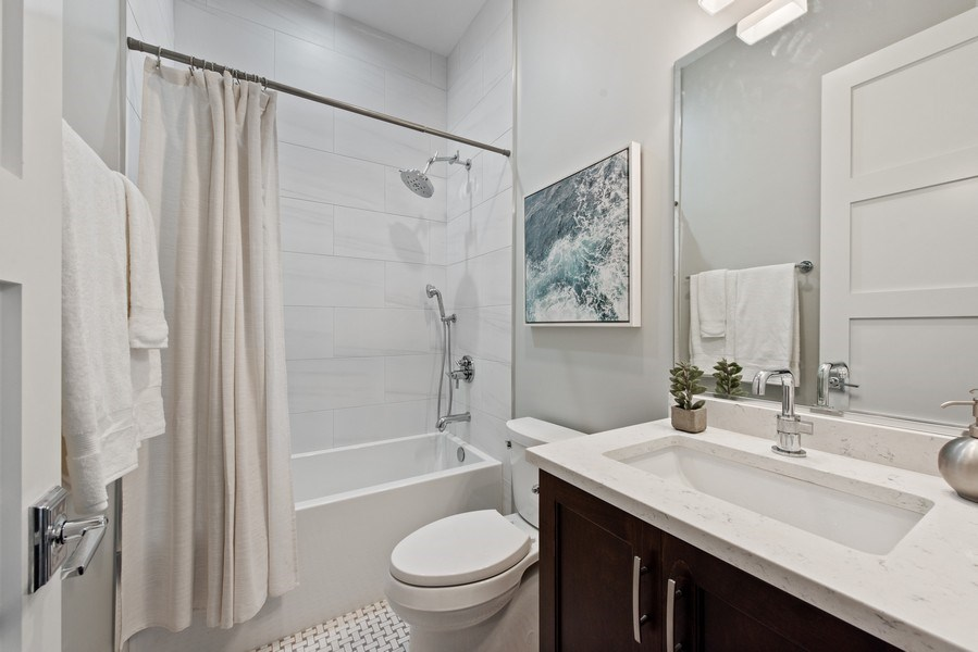 Real Estate Photography - 3813 N Kenmore, Unit 3N, Chicago, IL, 60618 - 2nd Bathroom