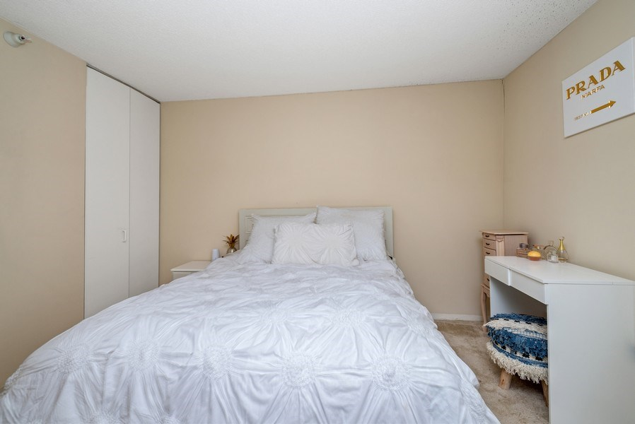 Real Estate Photography - 545 Dearborn, Unit W1606, Chicago, IL, 60654 - Bedroom