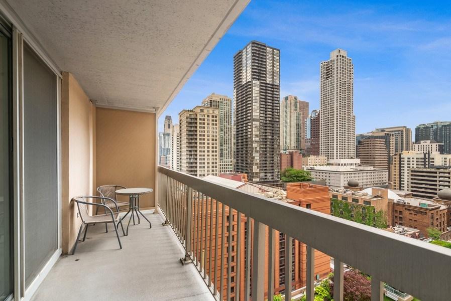 Real Estate Photography - 545 Dearborn, Unit W1606, Chicago, IL, 60654 - Balcony