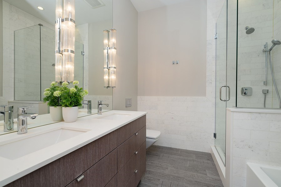 Real Estate Photography - 1428 W Wolfram Street, Chicago, IL, 60657 - 3rd Bathroom