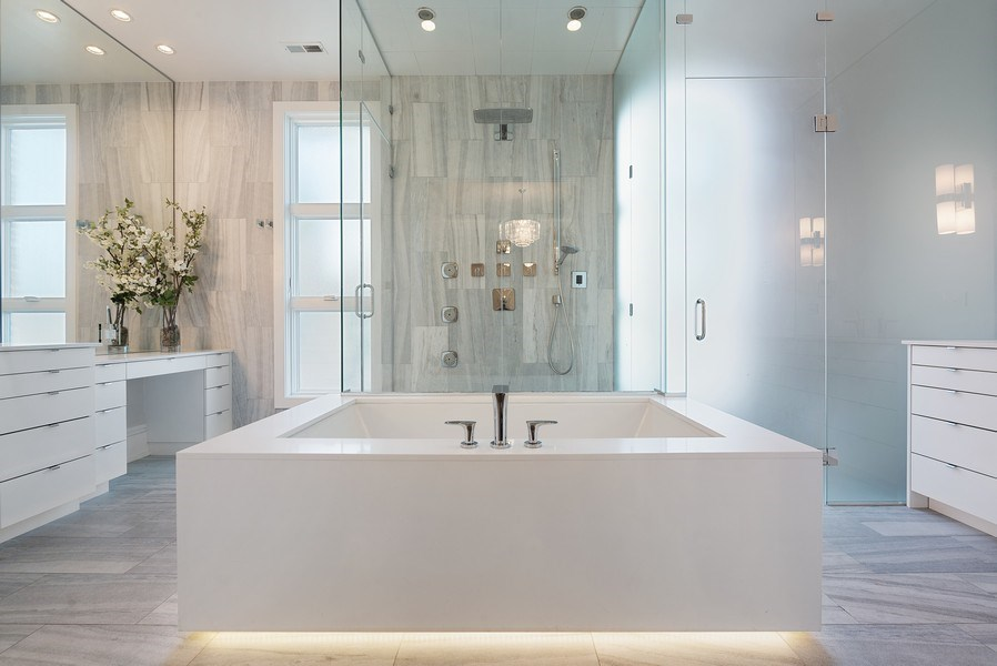 Real Estate Photography - 1428 W Wolfram Street, Chicago, IL, 60657 - Master Bathroom