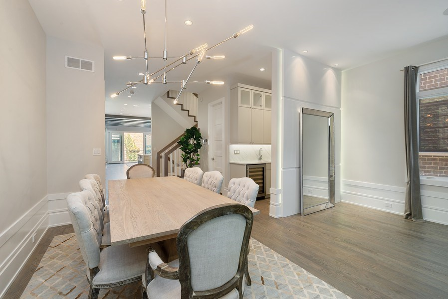Real Estate Photography - 1428 W Wolfram Street, Chicago, IL, 60657 - Dining Room