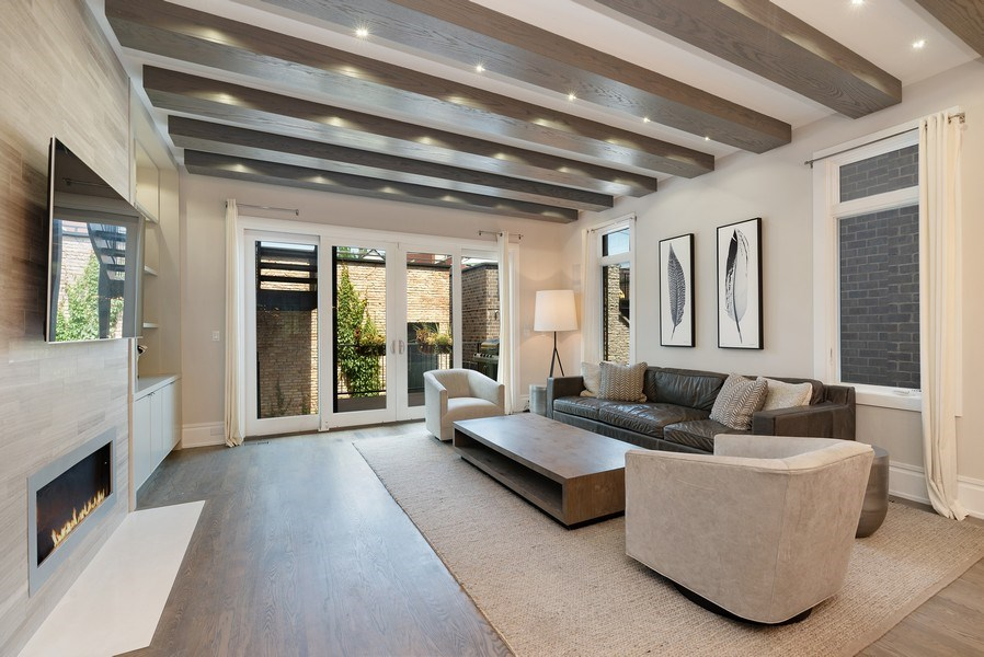Real Estate Photography - 1428 W Wolfram Street, Chicago, IL, 60657 - Family Room
