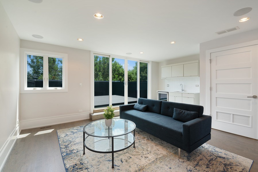 Real Estate Photography - 1428 W Wolfram Street, Chicago, IL, 60657 - Den