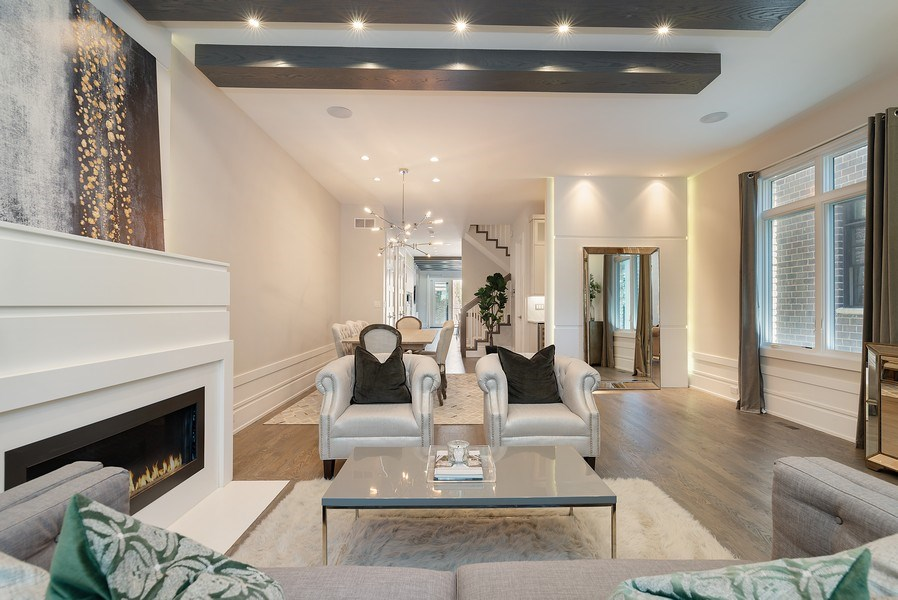 Real Estate Photography - 1428 W Wolfram Street, Chicago, IL, 60657 - Living Room/Dining Room