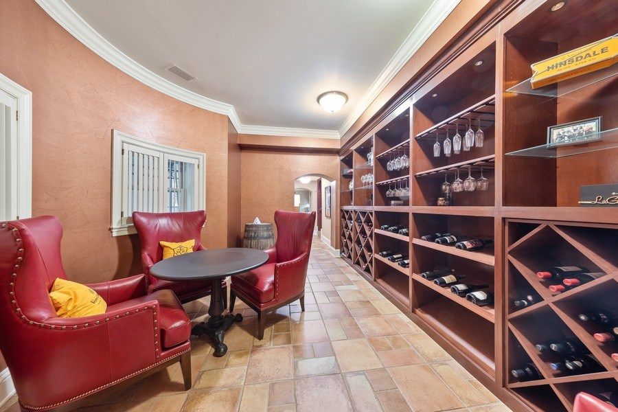 Real Estate Photography - 323 Hillcrest, Hinsdale, IL, 60521 - Wine Cellar