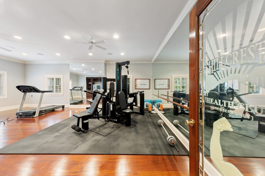 Real Estate Photography - 323 Hillcrest, Hinsdale, IL, 60521 - Fitness Room