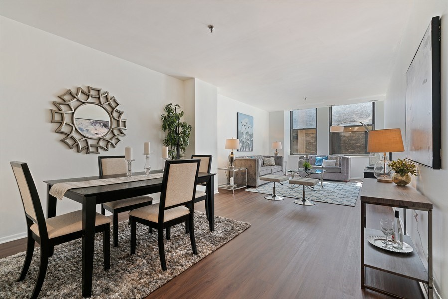 Real Estate Photography - 780 S Federal St, Unit 207, Chicago, IL, 60605 - Living Room