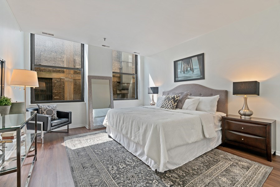 Real Estate Photography - 780 S Federal St, Unit 207, Chicago, IL, 60605 - Master Bedroom