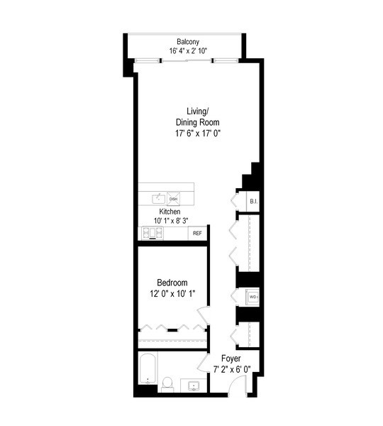 Real Estate Photography - 1550 S Blue Island, Unit 712, Chicago, IL, 60608 - Floor Plan