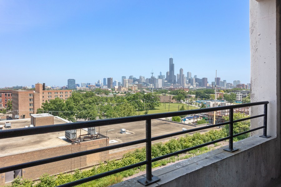 Real Estate Photography - 1550 S Blue Island, Unit 712, Chicago, IL, 60608 - Balcony