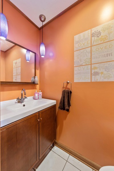 Real Estate Photography - 3050 Long Grove Lane, Aurora, IL, 60504 - Powder Room