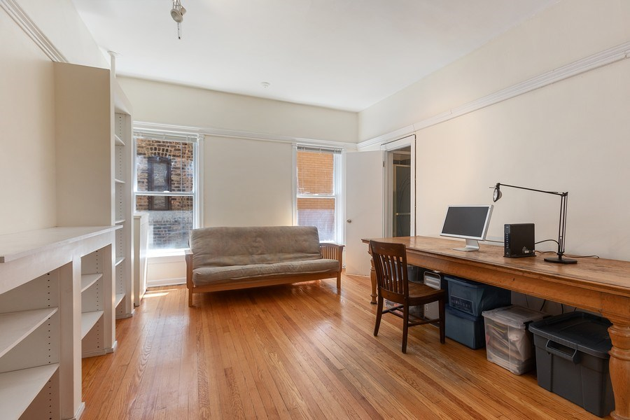 Real Estate Photography - 5007 S Dorchester, Unit 2S, Chicago, IL, 60615 - Bedroom