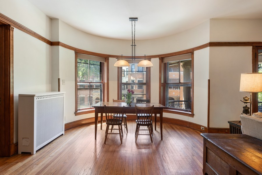 Real Estate Photography - 5007 S Dorchester, Unit 2S, Chicago, IL, 60615 - Dining Room