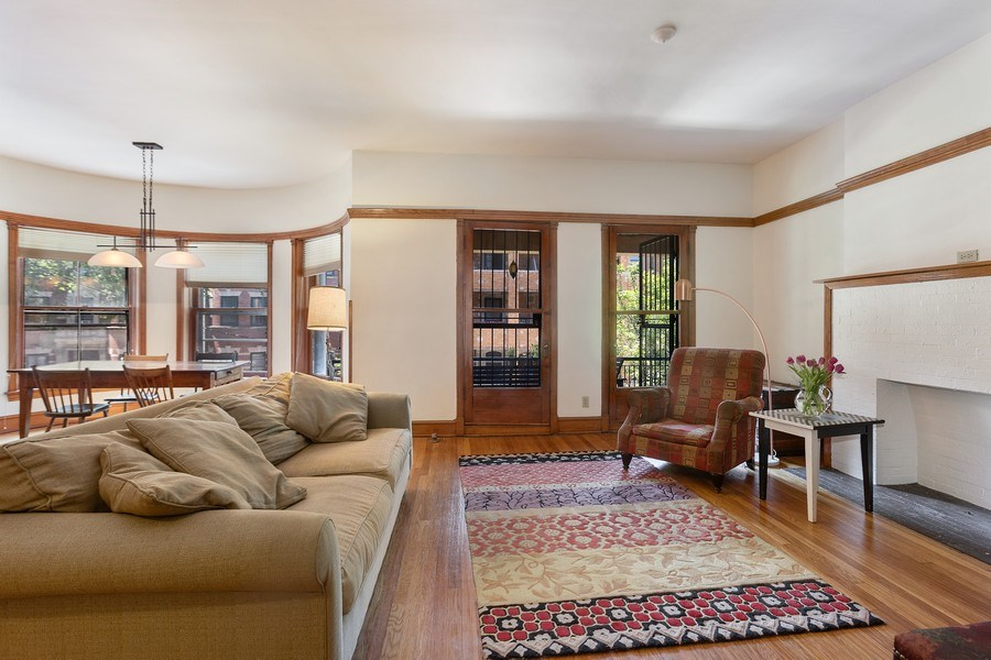 Real Estate Photography - 5007 S Dorchester, Unit 2S, Chicago, IL, 60615 - Living Room / Dining Room