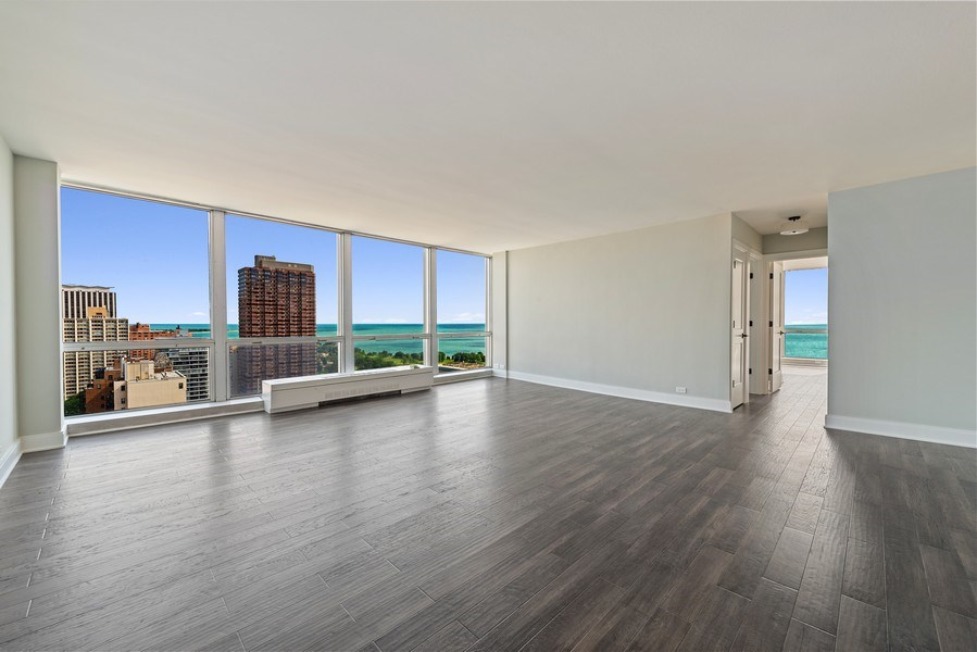 Real Estate Photography - 330 W Diversey, 2508, Chicago, IL, 60657 - Living Room