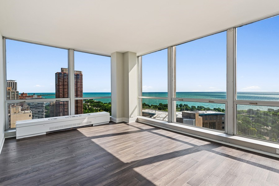 Real Estate Photography - 330 W Diversey, 2508, Chicago, IL, 60657 - Master Bedroom