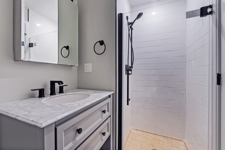 Real Estate Photography - 330 W Diversey, 2508, Chicago, IL, 60657 - 2nd Bathroom