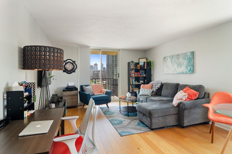 Real Estate Photography - 1212 N LaSalle, 1309, Chicago, IL, 60610 - Living Room