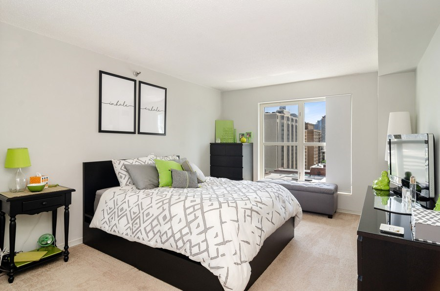 Real Estate Photography - 1212 N LaSalle, 1309, Chicago, IL, 60610 - Bedroom