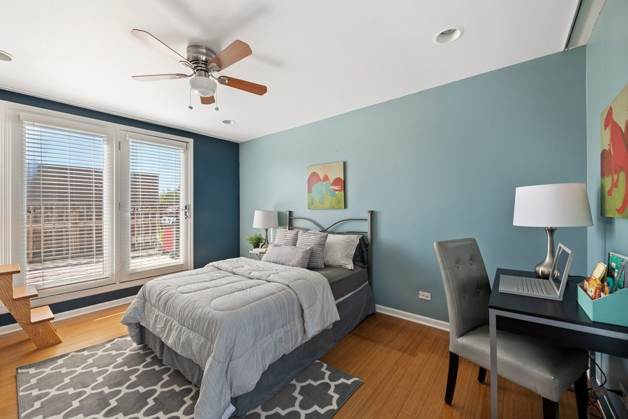 Real Estate Photography - 1217 N Hoyne Unit E, Chicago, IL, 60622 - 3rd Bedroom