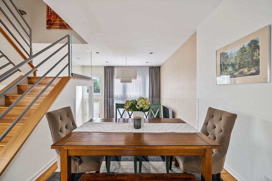 Real Estate Photography - 1217 N Hoyne Unit E, Chicago, IL, 60622 - Dining Room