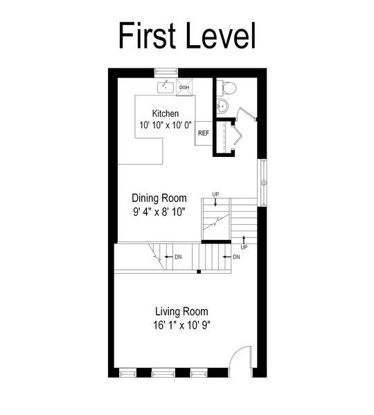 Real Estate Photography - 1217 N Hoyne Unit E, Chicago, IL, 60622 - Floor Plan