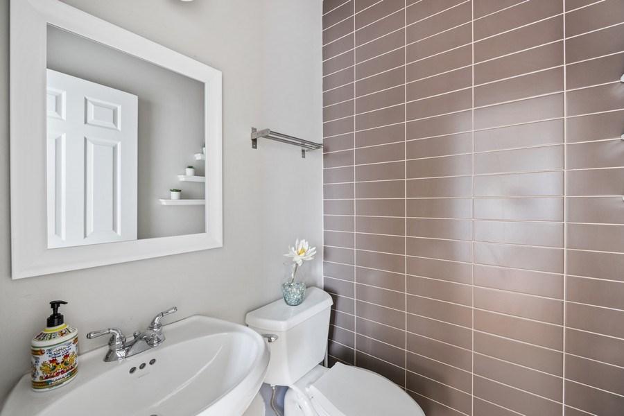Real Estate Photography - 1217 N Hoyne Unit E, Chicago, IL, 60622 - Half Bath