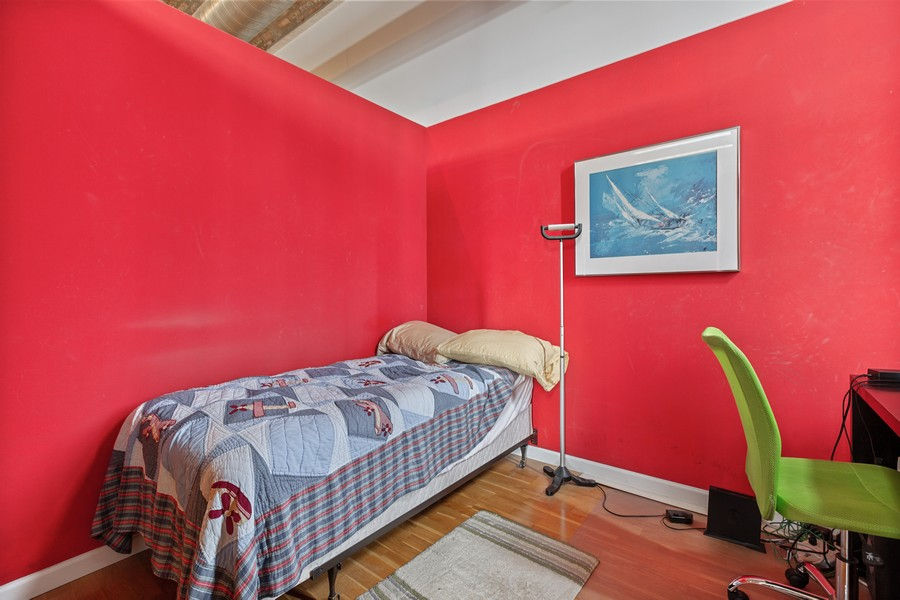 Real Estate Photography - 2101 W Rice, Unit 208, Chicago, IL, 60622 - Bedroom