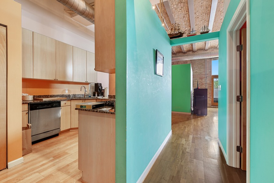 Real Estate Photography - 2101 W Rice, Unit 208, Chicago, IL, 60622 - Hallway