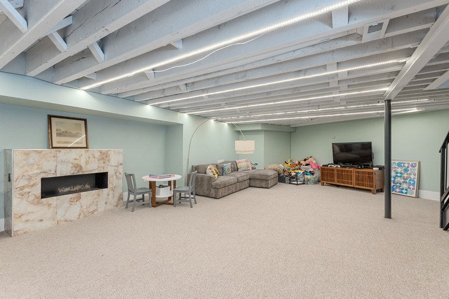 Real Estate Photography - 1160 W 31st St, Chicago, IL, 60608 - Family Room Lower Level