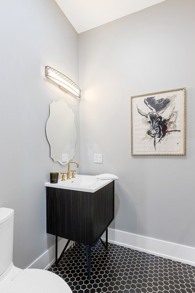 Real Estate Photography - 1160 W 31st St, Chicago, IL, 60608 - Powder Room