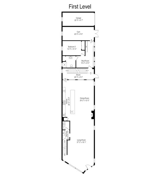 Real Estate Photography - 1160 W 31st St, Chicago, IL, 60608 - Floor Plan