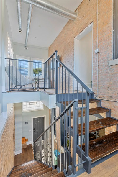 Real Estate Photography - 1160 W 31st St, Chicago, IL, 60608 - Rear Staircase Atrium
