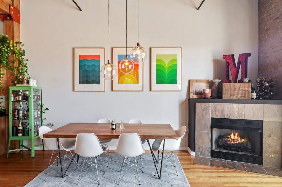 Real Estate Photography - 2806 N Oakley, 204, chicago, IL, 60618 - Dining Room