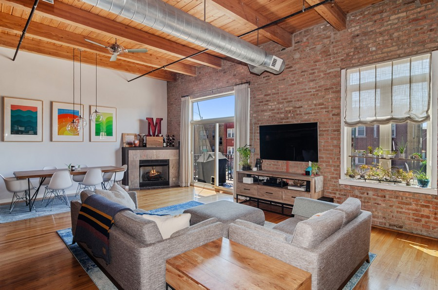 Real Estate Photography - 2806 N Oakley, 204, chicago, IL, 60618 - Living Room / Dining Room