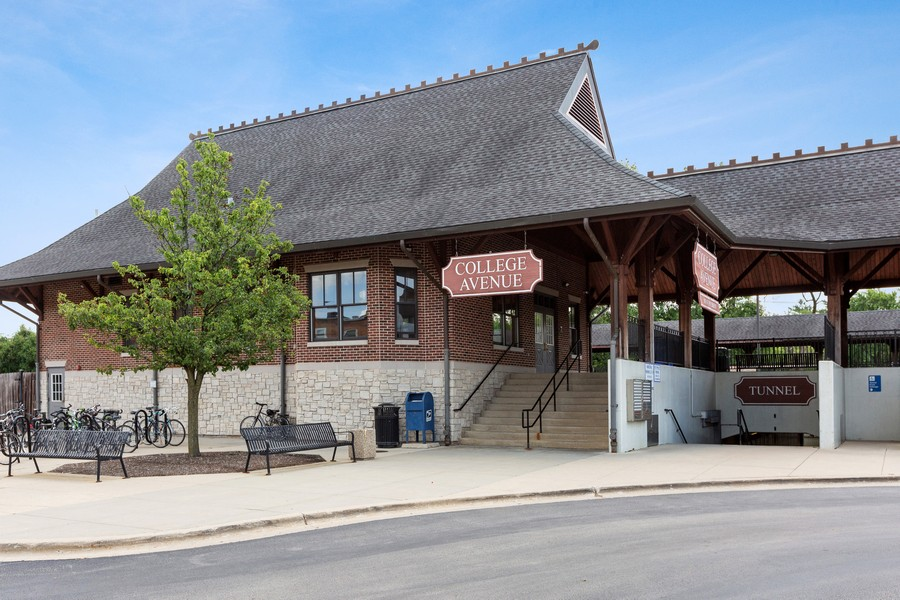 Real Estate Photography - 1020 College Ave., Wheaton, IL, 60187 - Train Station