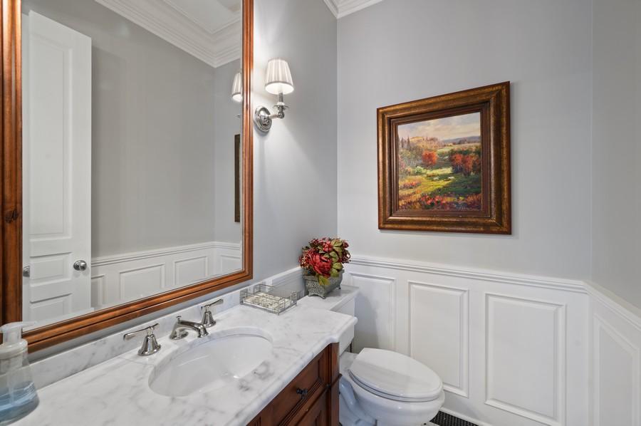 Real Estate Photography - 4 Golf Lane, Winnetka, IL, 60093 - Powder Room