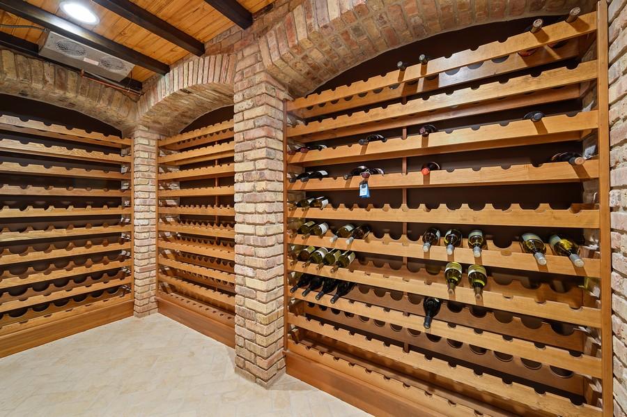 Real Estate Photography - 4 Golf Lane, Winnetka, IL, 60093 - Wine Cellar
