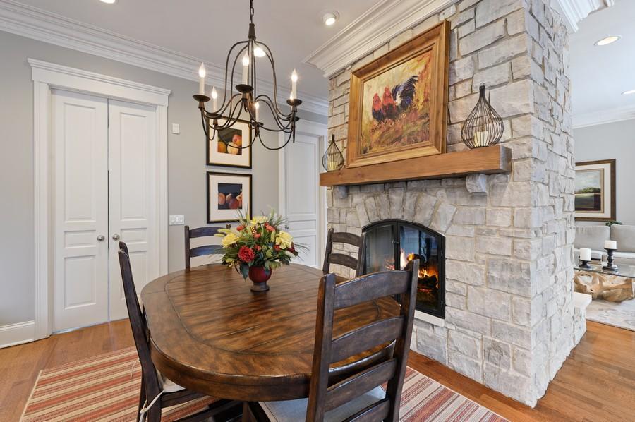 Real Estate Photography - 4 Golf Lane, Winnetka, IL, 60093 - Breakfast Area