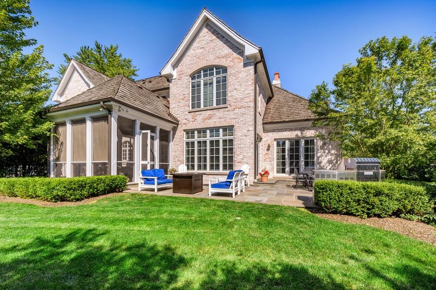 Real Estate Photography - 4 Golf Lane, Winnetka, IL, 60093 - Rear View