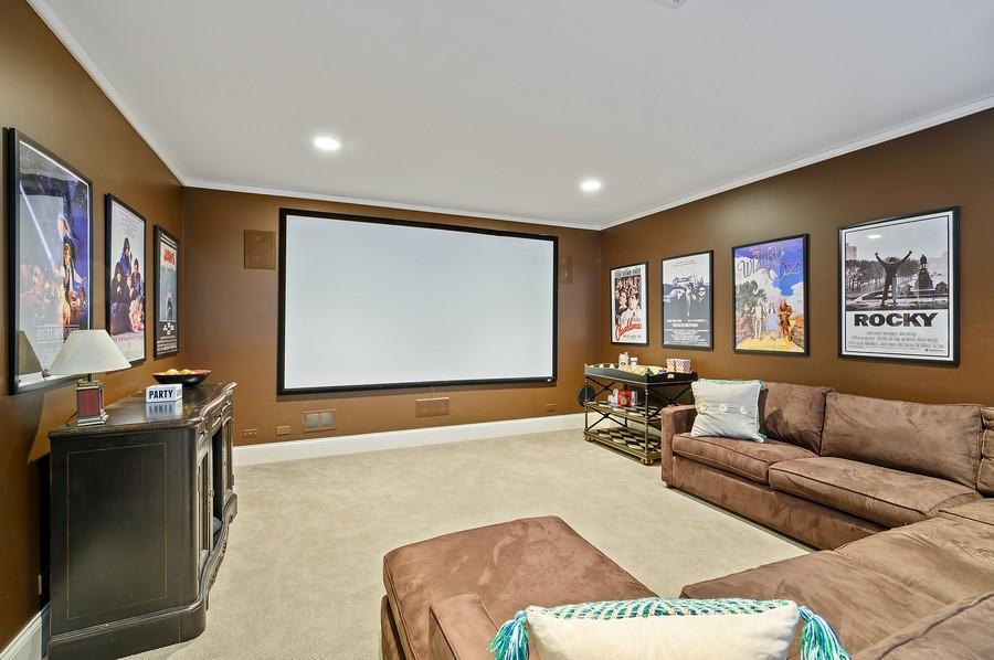 Real Estate Photography - 4 Golf Lane, Winnetka, IL, 60093 - Theater