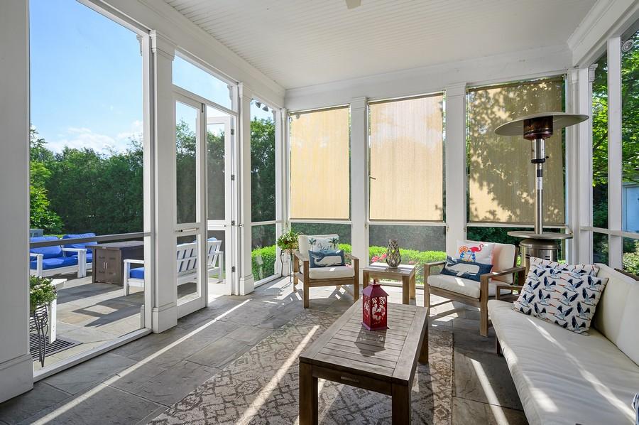 Real Estate Photography - 4 Golf Lane, Winnetka, IL, 60093 - Porch