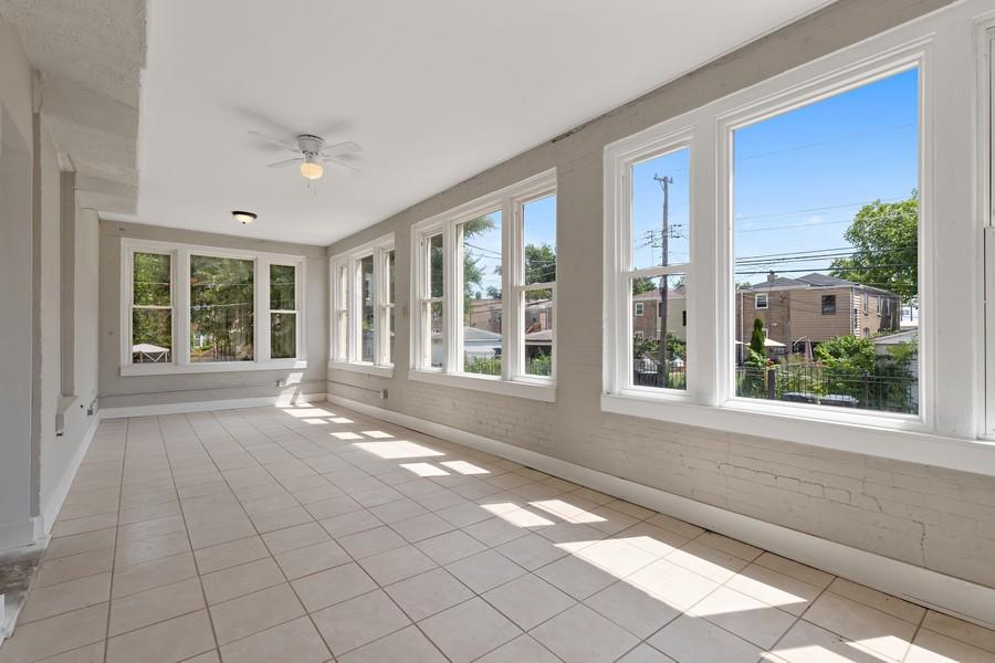 Real Estate Photography - 5349 W Van Buren St, 1st Floor, Chicago, IL, 60644 - Sun Room