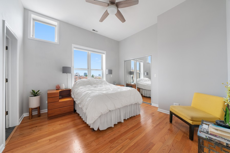 Real Estate Photography - 744 N May St #3P, Chicago, IL, 60642 - Master Bedroom